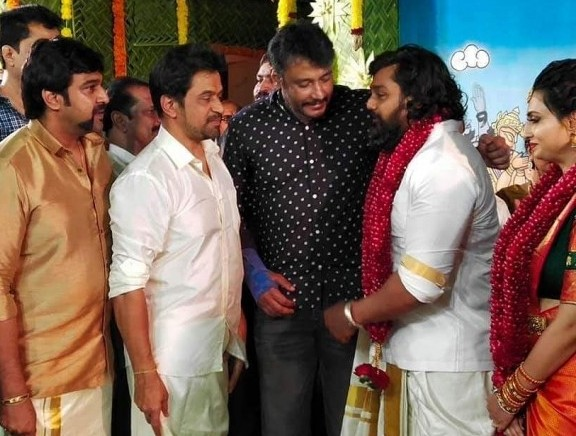 Actor Dhruva Sarja And Prerana Shankar Engagement - Kannada Tamil Event Photos