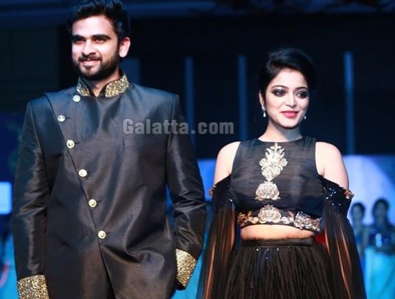 Ashok Selvan and Janani Iyer walk the ramp at SIFA's Evening X'Mas Gala Fashion Show
