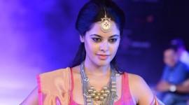 Bindu Madhavi walks the ramp for Sanjana Jon at CIFW 2014 Day 2