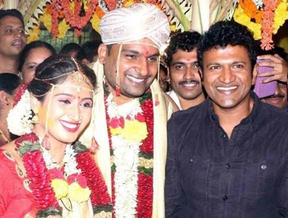 Director Pavan Wadeyar and Apeksha Purohit wedding