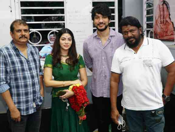 Gautham Karthik and Parthiban New Movie Launch -  Photos Stills Images