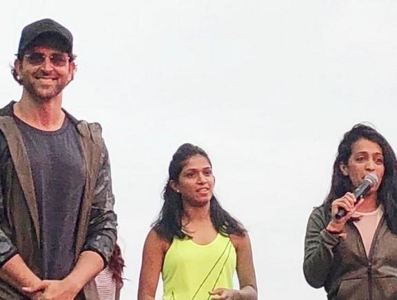 Hrithik Roshan Promotes Fitness at Inorbit Mall
