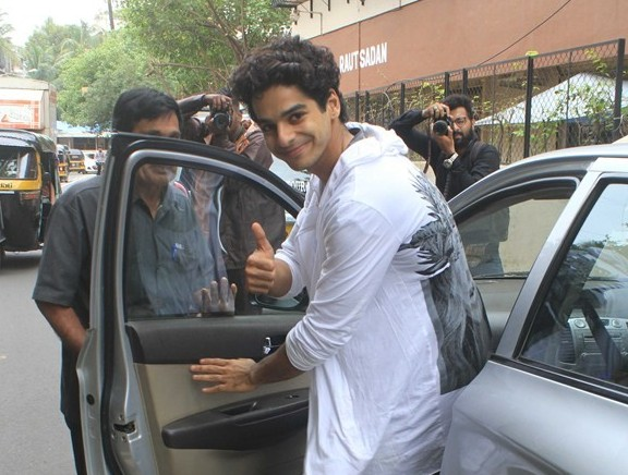 Janhvi Kapoor and Ishaan Khatter spotted at matrix office bandra