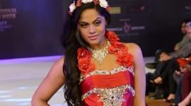 Karthika Nair walks the ramp for Shivali Singh at CIFW 2014 Day 3