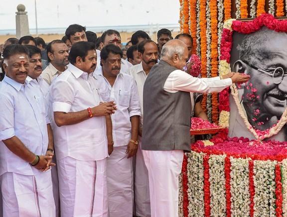 Politicians Pay Tribute to Mahatma Gandhi 150th Birth Anniversary