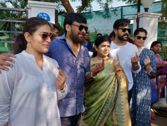 Tollywood Celebs Cast their Vote for Lok Sabha Election 2019