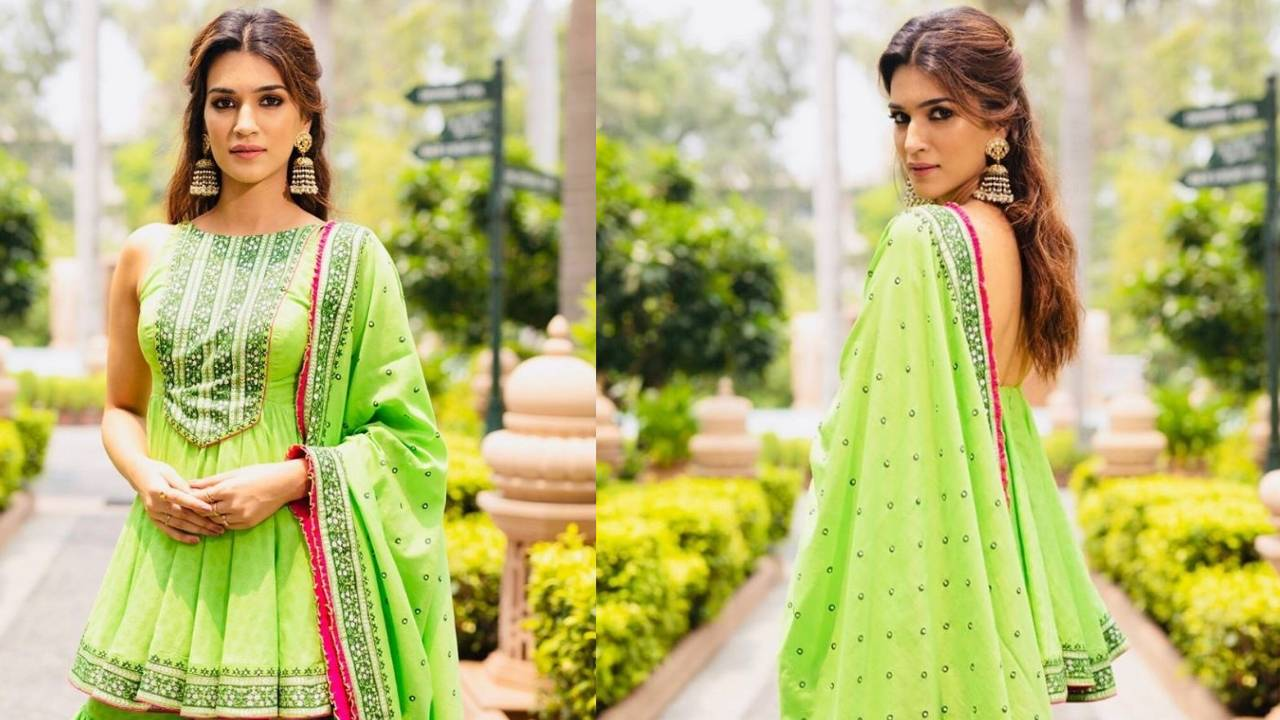 Kriti Sanon in green shararas: you decide if the look works