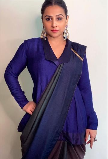 Vidya Balan went for an interview with Rajeev Masand recently, wearing this ethnic beauty from Loka - Fashion Models