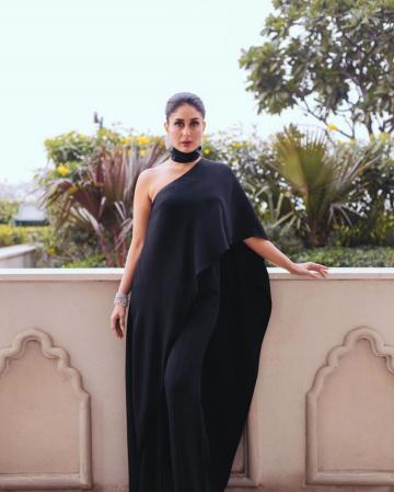 Stylist Rhea Kapoor really has an eye for silhouettes - look at the off-shoulder drape that also doubles as a cape on one sleeve - Fashion Models