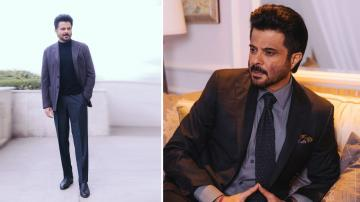 Anil Kapoor's in a simple yet dapper suit