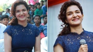 Honey Rose looking ready to rock the day in navy blue dress