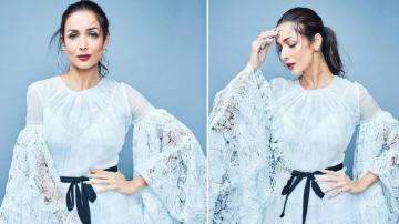 Malaika Arora looking seraphic in white