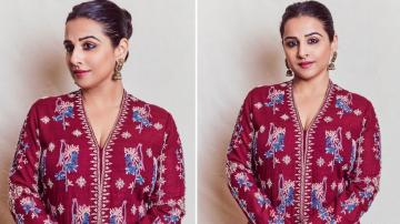 Vidya Balan's Anita Dongre kurtha is a head turner