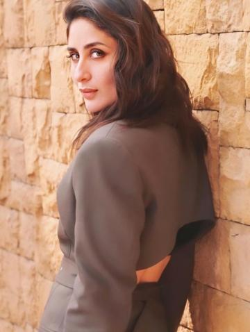 Kareena Kapoor Khan was seen promoting the movie Good Newwz in this earthy suit from Peter Do - Fashion Models