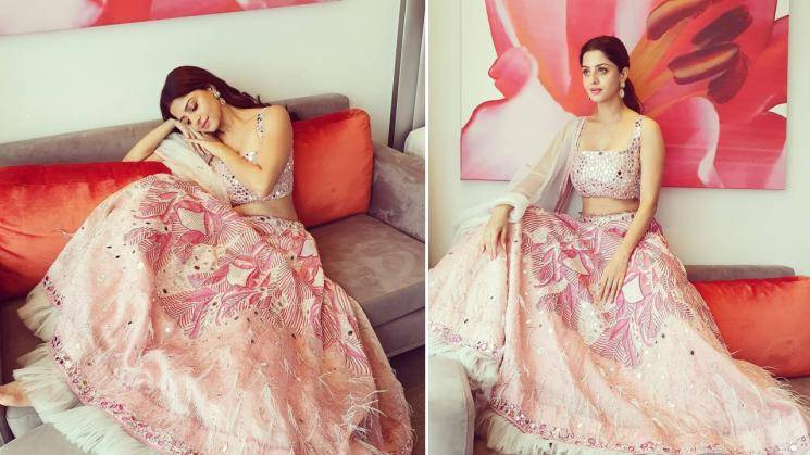 Vedhika is a sweetheart in this pink lehenga