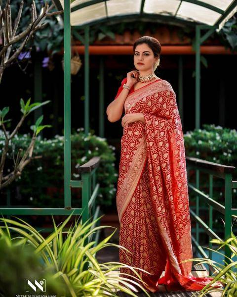 The Benarasi saree is intricately worked and looks traditional - Fashion Models