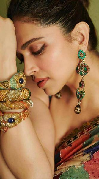 The jewellery from Sabyasachi is also exemplary on the Padmaavat actor - Fashion Models