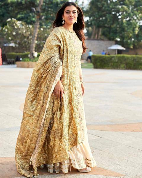 The nude coloured chanderi kurta with hand-painted Madhubani work pairs well with that chanderi sharara - Fashion Models