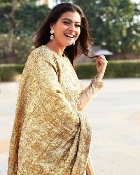 Kajol has always been a looker; we love that gold lampi dupatta that adds character here - Fashion Models