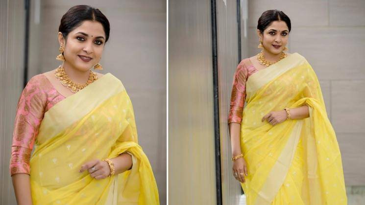 Ramya Krishnan making yellow look regal with ease