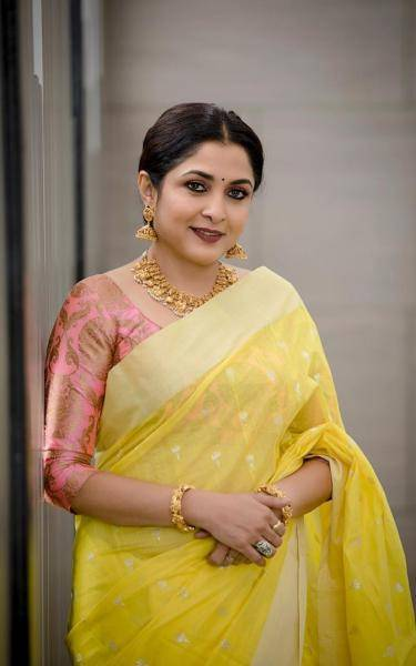 Ramya Krishnan was recently seen in this yellow saree which is a mood-picker - Fashion Models