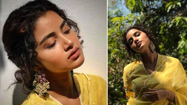 Anupama Parameswaran competing with the sun in this yellow saree