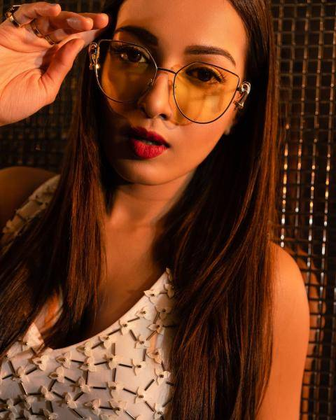 The lady's glasses look cool; and we love the sleek hairstyle Salmani Kaif gave her - Fashion Models