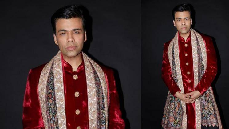Karan Johar's wedding look is flamboyant as expected