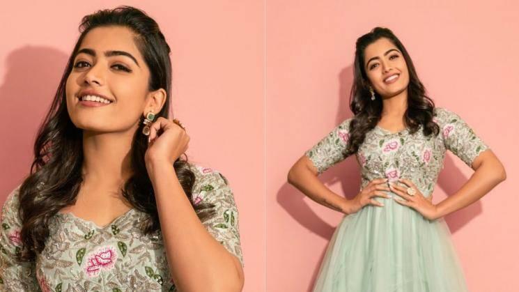 Rashmika Mandanna using pastel green to her favour