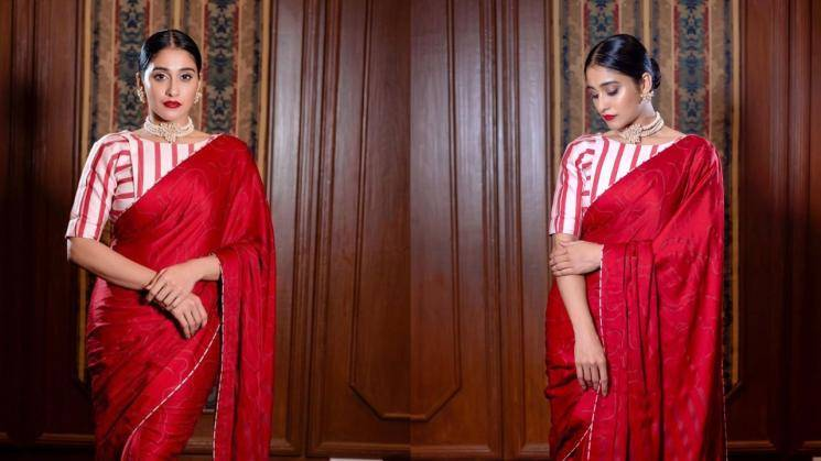 Have you seen Regina Cassandra's red saree?