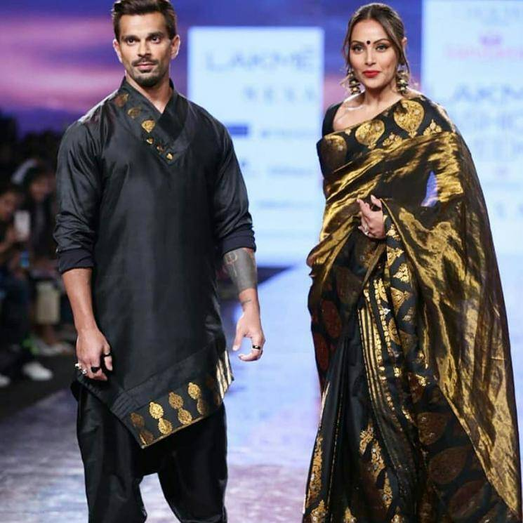 Bipasha Basu made an appearance at the Lakme Fashion Week with her husband and we cant get over the traditional Mekhla Chador she was wearing  - Fashion Models