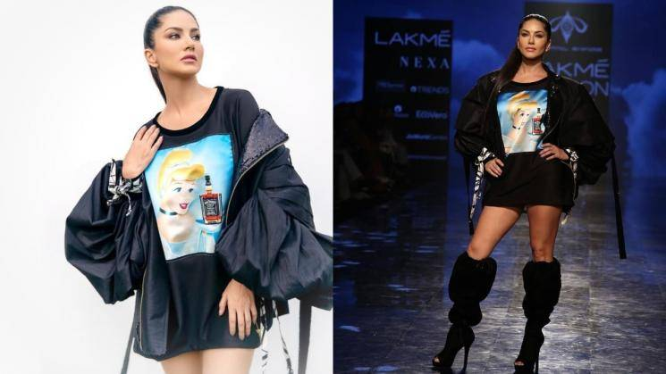 Sunny Leone's black boots-look is a winner