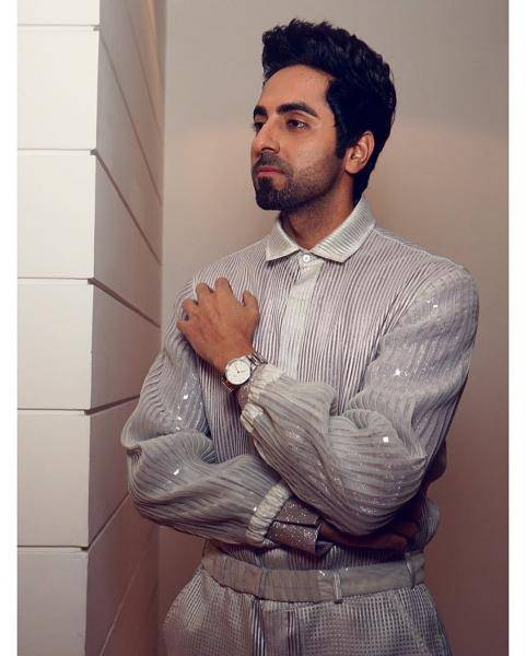 Ayushmann Khurana was in Chandigarh for the week and was spotted in this separates outfit from Amit Aggarwal  - Fashion Models