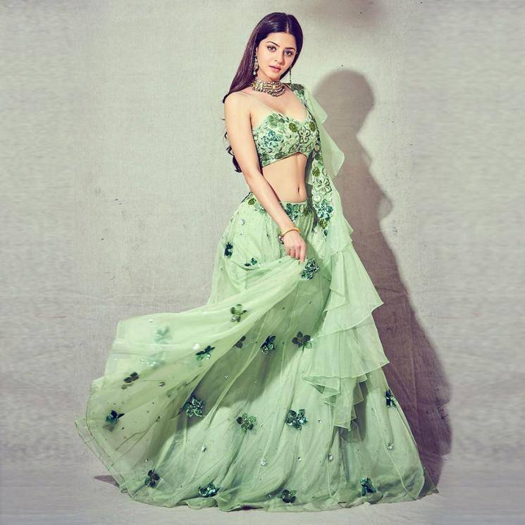 Our very own Vedika was recently spotted in this glorious green lehenga from Silky Bindra - Fashion Models