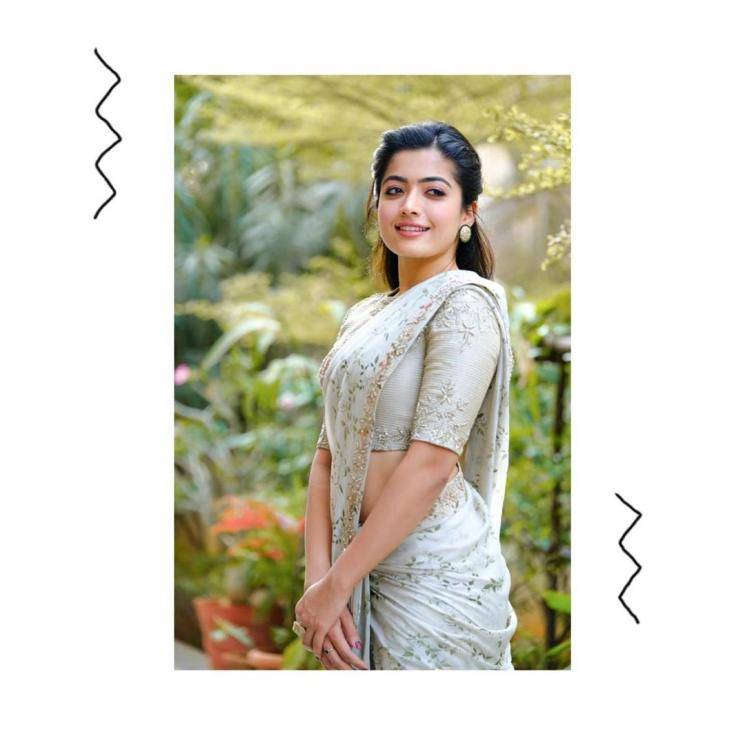 Rashmika Mandanna was spotted in this saree from Geetika Chadha and we can't get over it! - Fashion Models