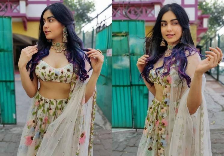 Adah Sharma looking hot in floral lehenga