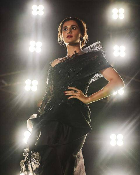 Tapsee Pannu wore this black lacey gown from Tanieya Khanuja to the Zee Cine awards and we are impressed - Fashion Models