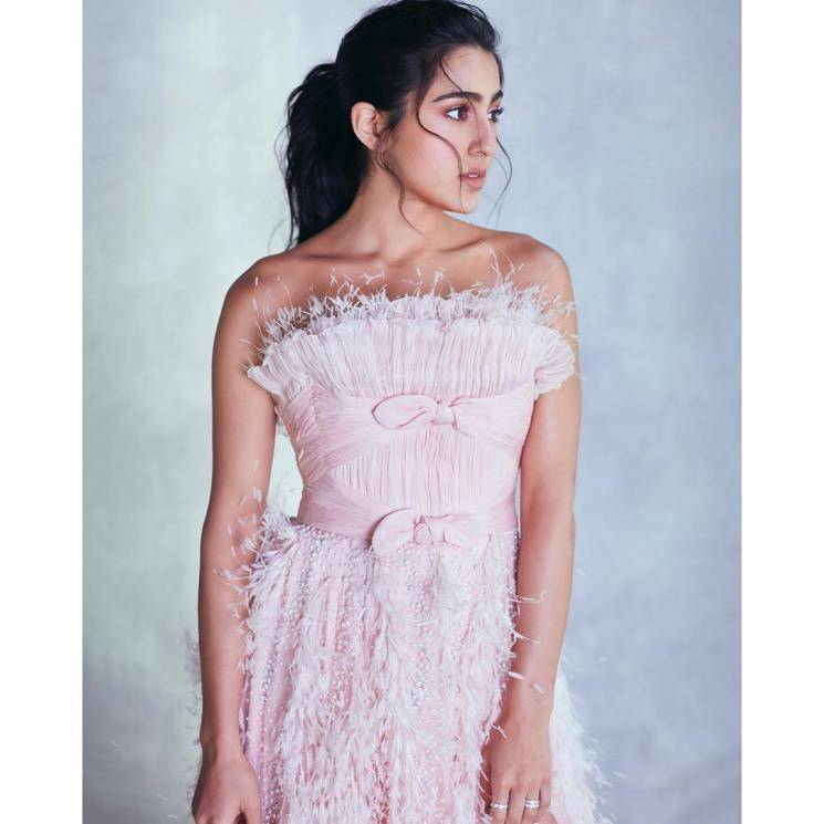 Sara Ali Khan attended the Zee Cine awards looking cute in this pink outfit from Georges Chakra - Fashion Models