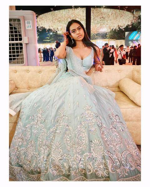 Nysa Devgan was spotted at a wedding in this pastel lehenga from Neeta Lulla  - Fashion Models