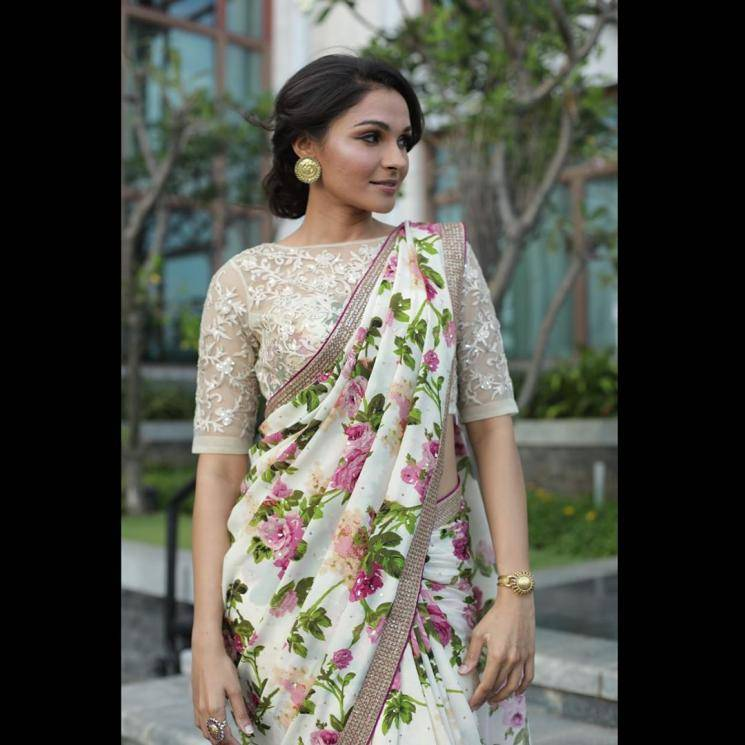 Andrea Jeremiah was recently spotted in this floral saree from Ritu Kumar, but we remember so many sarees that did better - Fashion Models