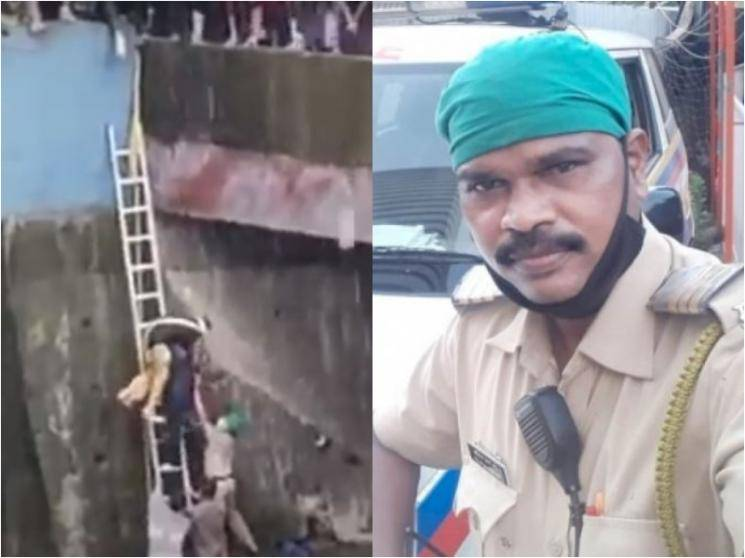 Mumbai cop jumps into river to save woman from committing suicide after husband died due to COVID-19 -