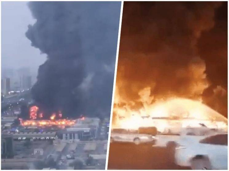 Huge fire breaks out in UAE's Ajman market, zero casualties reported