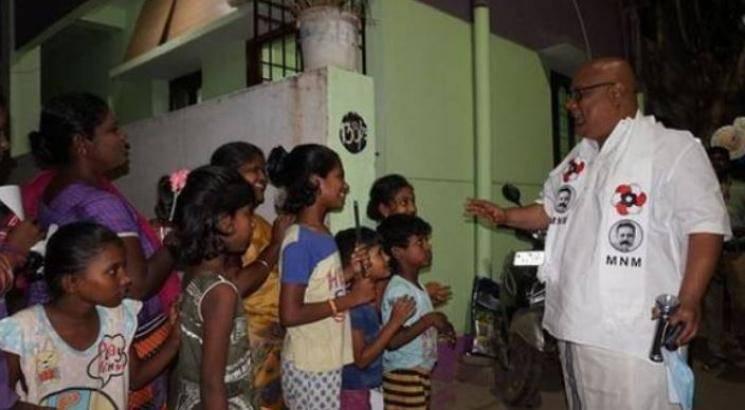 bigg boss suresh chakravarthy campaigns for kamal haasan mnm tn election 2021