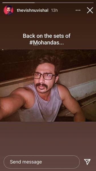 popular tamil actor vishnu vishal resumes mohandas shoot