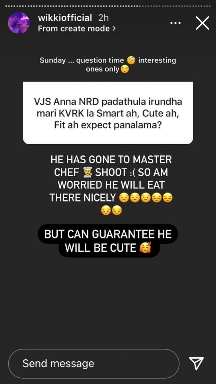 vignesh shivan updates about shooting of kaathu vaakula rendu kaadhal