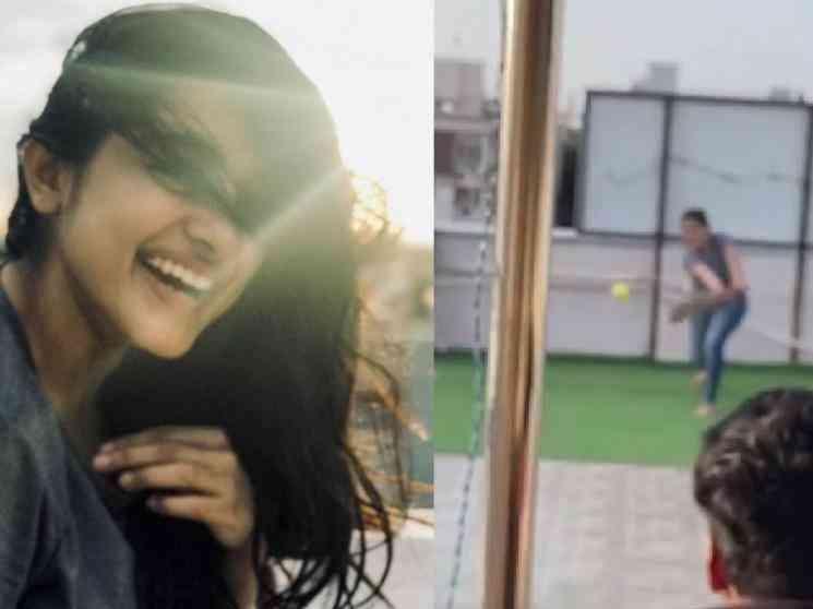 கிரிக்கெட் விளாயாடும்போது செல்போன் கேமராவை பதம்பார்த்த முன்னணி நடிகை ! - Latest Tamil Cinema News