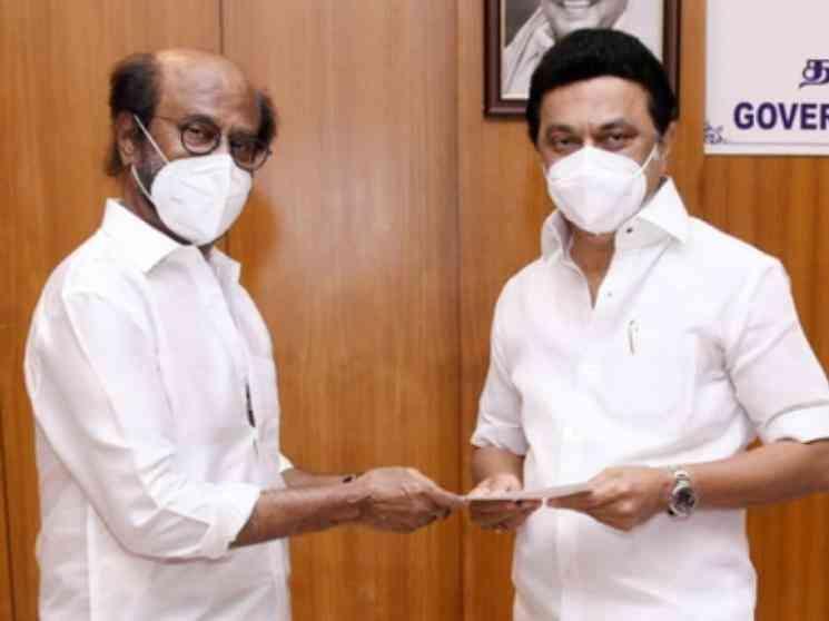ரஜினிகாந்த் முதல்வரை நேரில் சந்தித்து நிதி உதவி!! - Tamil Movies News