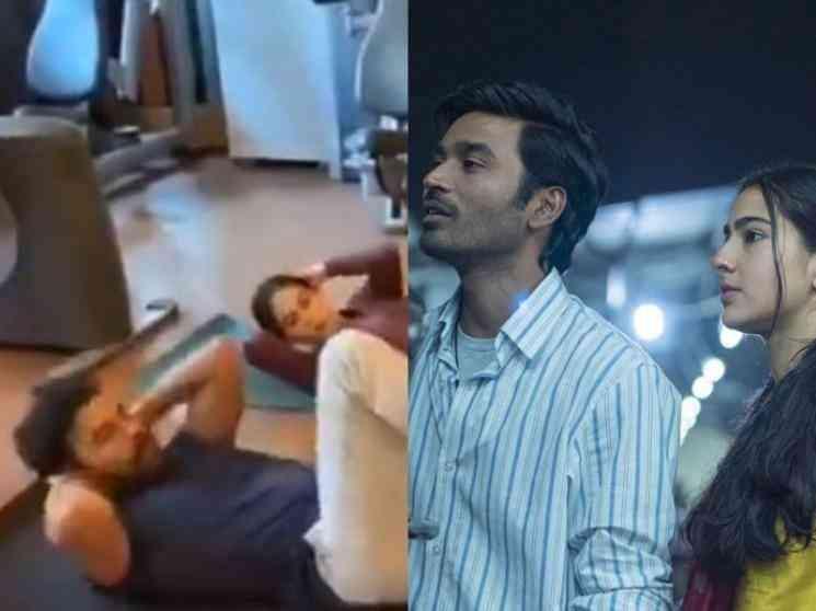 ஜிம்மில் தீவிர உடற்பயிற்சியில் ஈடுபட்ட தனுஷ் மற்றும் சாரா அலிகான் !  - Latest Tamil Cinema News