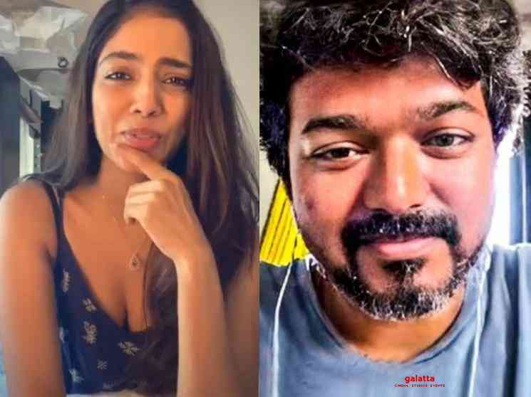 Thalapathy Vijay wishes Malavika Mohanan for her birthday Master - Tamil Movie Cinema News