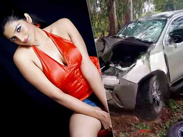 Kannada actress Rishika Singh injured in a car accident - Tamil Movie Cinema News